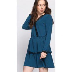 Niebieska Sukienka Deep Love. Niebieskie sukienki hiszpanki Born2be, na lato, s, wizytowe. Za 79,99 zł.