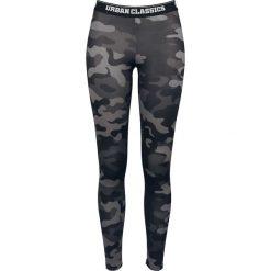 Spodnie damskie: Urban Classics Ladies Camo Logo Leggings Legginsy kamuflaż (Dark Camo)