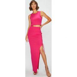 Answear - Sukienka. Szare długie sukienki marki ANSWEAR, na co dzień, s, z bawełny, casualowe, z okrągłym kołnierzem, dopasowane. W wyprzedaży za 69,90 zł.