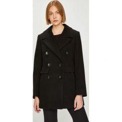 Answear - Płaszcz Watch me. Czarne płaszcze damskie ANSWEAR, l, z elastanu, klasyczne. W wyprzedaży za 259,90 zł.