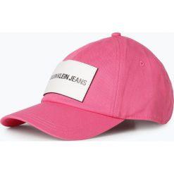Czapki damskie: Calvin Klein Jeans - Damska czapka z daszkiem z dodatkiem skóry, różowy