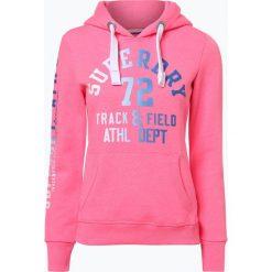 Superdry - Damska bluza nierozpinana, różowy. Szare bluzy z kapturem damskie marki Superdry, l, z nadrukiem, z bawełny, z okrągłym kołnierzem. Za 149,95 zł.