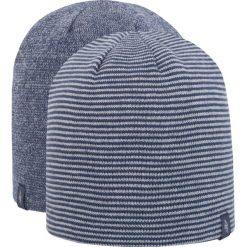 Czapka męska CAM256Z - szaro-niebieski melanż - 4F. Niebieskie czapki męskie 4f, na jesień, melanż, z materiału. Za 22,99 zł.