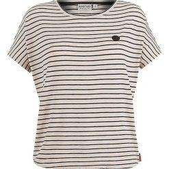 Naketano Koszulka 'Striped Girl'  beżowy / granatowy. Brązowe bluzki dziewczęce w paski marki Naketano, z dżerseju, z okrągłym kołnierzem. Za 146,60 zł.