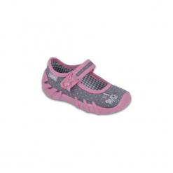 Szare Różowe Tekstylne Buty Befado rozmiar 19. Niebieskie buciki niemowlęce chłopięce marki Born2be, z materiału, z okrągłym noskiem, na obcasie. Za 61,80 zł.