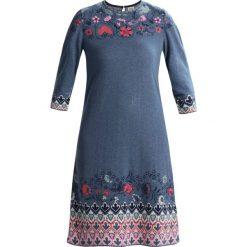 Sukienki dzianinowe: Ivko DRESS INTARSIA PATTERN Sukienka dzianinowa stoneblue