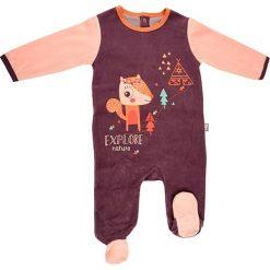 Śpiochy niemowlęce: Śpioszki w kolorze brzoskwiniowo-fioletowym