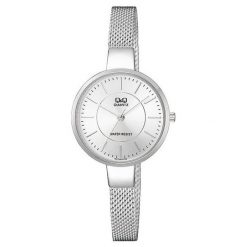 Zegarek Q&Q Damski QA17-201 Fasion Mesh srebrny. Szare zegarki damskie Q&Q, srebrne. Za 149,00 zł.