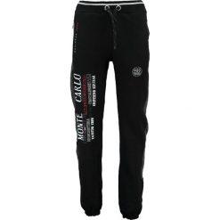 """Spodnie dresowe """"Mindwiller"""" w kolorze czarnym. Czarne spodnie dresowe męskie Geographical Norway Men, z aplikacjami, z dresówki. W wyprzedaży za 99,95 zł."""