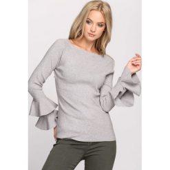 Swetry klasyczne damskie: Jasnoszary Sweter Fantastic