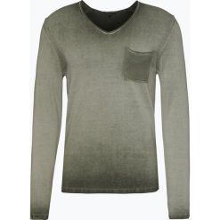 Drykorn - Sweter męski – Rafal, zielony. Niebieskie swetry klasyczne męskie marki DRYKORN, m, z dekoltem karo. Za 449,95 zł.