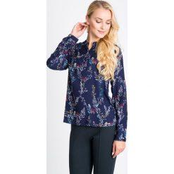 Bluzki damskie: Granatowa bluzka z florystycznym motywem QUIOSQUE
