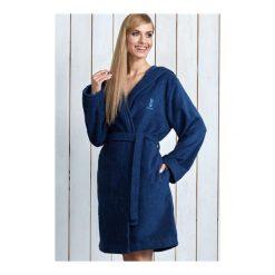 Szlafrok Alba Navy. Niebieskie szlafroki kimona damskie L&L, l, z włókna. Za 159,90 zł.