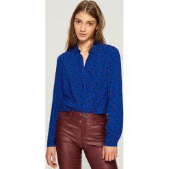 Koszula - Niebieski. Białe koszule damskie marki Sinsay, l, z napisami. Za 39,99 zł.