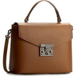 Torebka CREOLE - K10346  Średni Brąz. Brązowe torebki klasyczne damskie Creole, ze skóry ekologicznej, duże. W wyprzedaży za 229,00 zł.