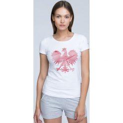 Bluzki damskie: Koszulka kibica damska TSD500 - BIAŁY