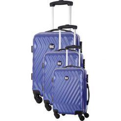 Walizki: Zestaw walizek w kolorze niebieskim – 3 szt.