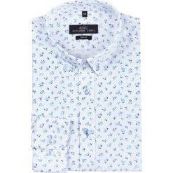 Koszula SIMONE KDWS000175. Niebieskie koszule męskie na spinki Giacomo Conti, m, z nadrukiem, button down. Za 199,00 zł.