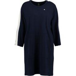 GStar NOSTELLE STRIPE CREW DRESS Sukienka z dżerseju sartho blue. Niebieskie sukienki z falbanami marki G-Star, xs, z dżerseju. W wyprzedaży za 356,30 zł.