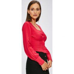 Trendyol - Bluzka. Szare bluzki z odkrytymi ramionami Trendyol, z nylonu, casualowe. W wyprzedaży za 69,90 zł.