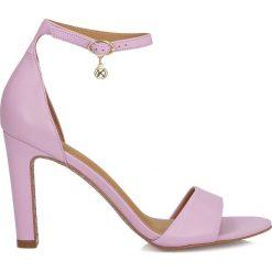 Rzymianki damskie: Liliowe sandały damskie
