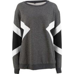 Bluza dresowa, z kolekcji Maite Kelly bonprix antracytowy melanż - czarno-biały. Szare bluzy damskie bonprix, melanż, z dresówki. Za 109,99 zł.