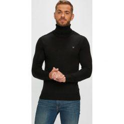 Guess Jeans - Sweter. Czarne golfy męskie Guess Jeans, l, z aplikacjami, z dzianiny. Za 329,90 zł.