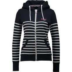 Bluzy damskie: Superdry LABEL ZIPHOOD Bluza rozpinana eclipse navy/ice marl