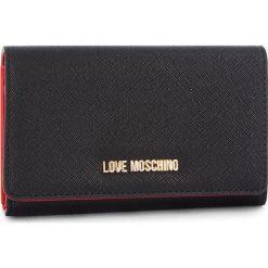 Duży Portfel Damski LOVE MOSCHINO - JC5553PP06LQ0000 Nero. Czarne portfele damskie Love Moschino, ze skóry ekologicznej. Za 369,00 zł.