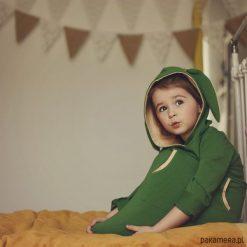 Sukienki niemowlęce: Sukienka z uszami tunika zielona