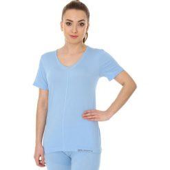 Bluzki asymetryczne: Brubeck Koszulka damska  comfort night  błękitna r. XL (SS11790)