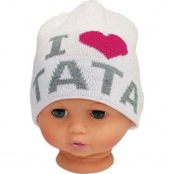Czapka niemowlęca z napisem tata CZ 160D. Szare czapeczki niemowlęce Proman, z napisami. Za 30,75 zł.