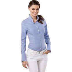 Bluzki damskie: Bluzka w kolorze niebiesko-białym