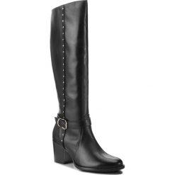 Kozaki ANN MEX - 8851-1 01S Czarny. Czarne buty zimowe damskie Ann Mex, ze skóry, przed kolano, na wysokim obcasie. Za 439,00 zł.