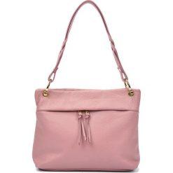 Torebki i plecaki damskie: Skórzana torebka w kolorze różowym – (S)33 x (W)25 x (G)10 cm