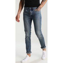 Topman GRATTIS Jeansy Slim Fit blue. Niebieskie rurki męskie Topman. W wyprzedaży za 183,20 zł.