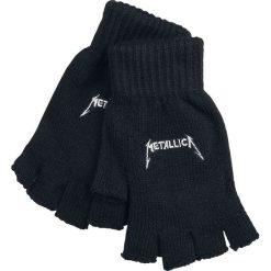 Rękawiczki męskie: Metallica Logo Rękawiczki bez palców czarny