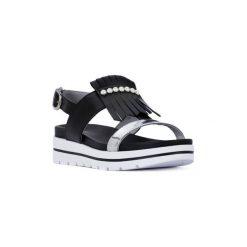 Sandały Nero Giardini  NERO GIARDINI  100 LEON NERO. Czarne sandały damskie marki Nero Giardini. Za 351,12 zł.