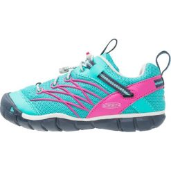 Keen CHANDLER CNX Półbuty trekkingowe viridian/very berry. Niebieskie buty skate męskie marki Keen, z gumy, outdoorowe. Za 249,00 zł.