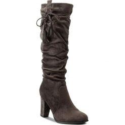 Kozaki JENNY FAIRY - WS16028-2 Szary. Szare buty zimowe damskie marki Jenny Fairy, z materiału, na obcasie. W wyprzedaży za 104,99 zł.