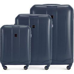 Zestaw walizek 56-3A-37S-90. Niebieskie walizki Wittchen, z gumy. Za 499,41 zł.