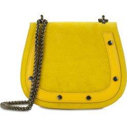 """Torebki klasyczne damskie: Skórzana torebka """"Amparo"""" w kolorze żółtym – 20 x 17 x 8 cm"""