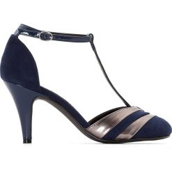 Buty ślubne damskie: Czółenka z paskiem na szeroką stopę 38-45