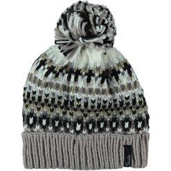 """Czapki damskie: Dzianinowa czapka """"Cluster"""" w kolorze szarobrązowo-szaro-białym"""