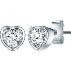 Srebrne kolczyki-wkrętki z cyrkoniami. Szare kolczyki damskie Stylowa biżuteria, z cyrkonią, srebrne. W wyprzedaży za 65,95 zł.