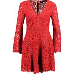 Sukienki hiszpanki: Bardot MIDNIGHT  Sukienka koktajlowa raspberry