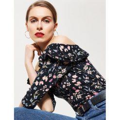 Bluzki asymetryczne: Bluzka typu hiszpanka - Wielobarwn