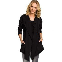 SYLVIA Narzutka - bluza z dzianiny dresowej z długim rękawem - czarna. Czarne bluzy rozpinane damskie Moe, s, z dresówki, z długim rękawem, długie. Za 99,00 zł.