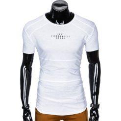 T-SHIRT MĘSKI Z NADRUKIEM S950 - BIAŁY. Białe t-shirty męskie z nadrukiem Ombre Clothing, m. Za 29,00 zł.