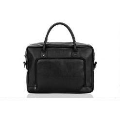 Męska torba na laptopa Solier TYSON czarna. Czarne torby na ramię męskie marki Solier, w paski. Za 199,00 zł.
